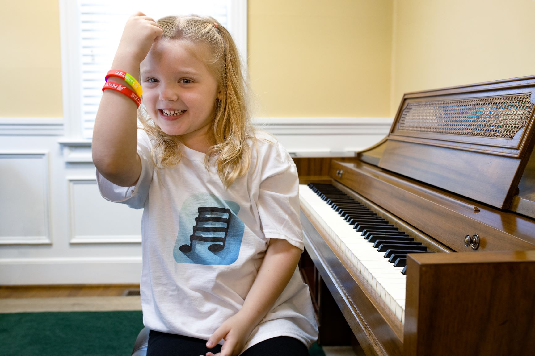 Piano Girl with Awards
