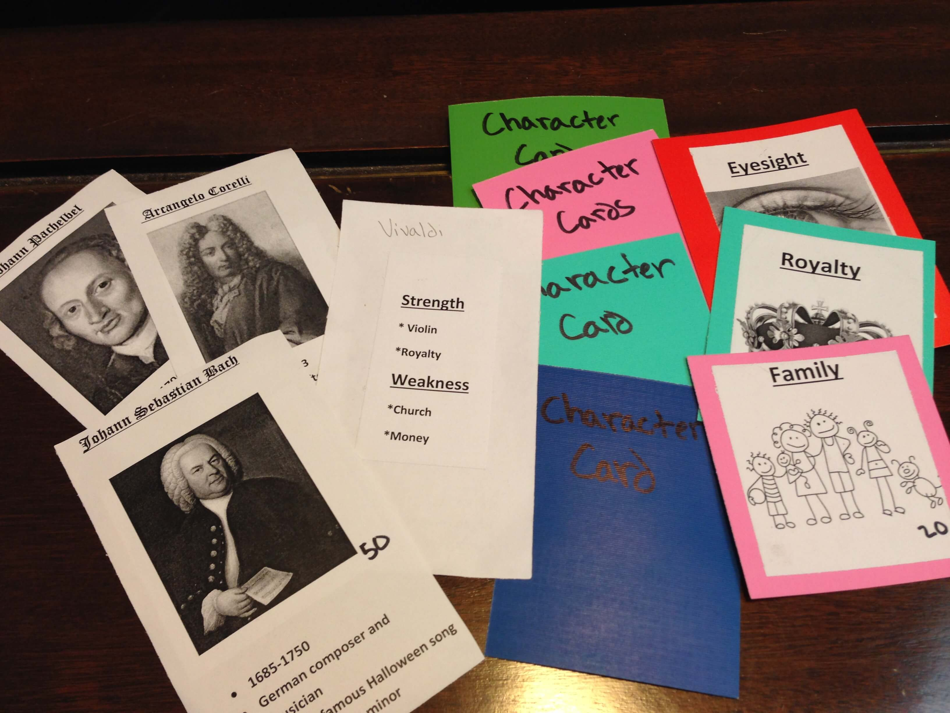 Baroque Music Composer Game made by a student at Dallas Piano Academy