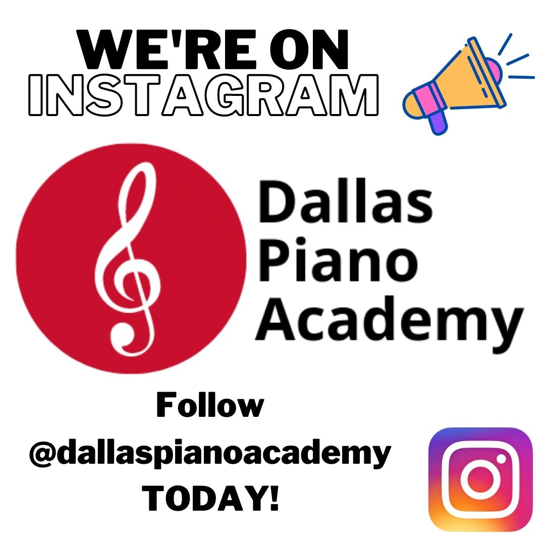 Instagram announcement by Dallas Piano Academy