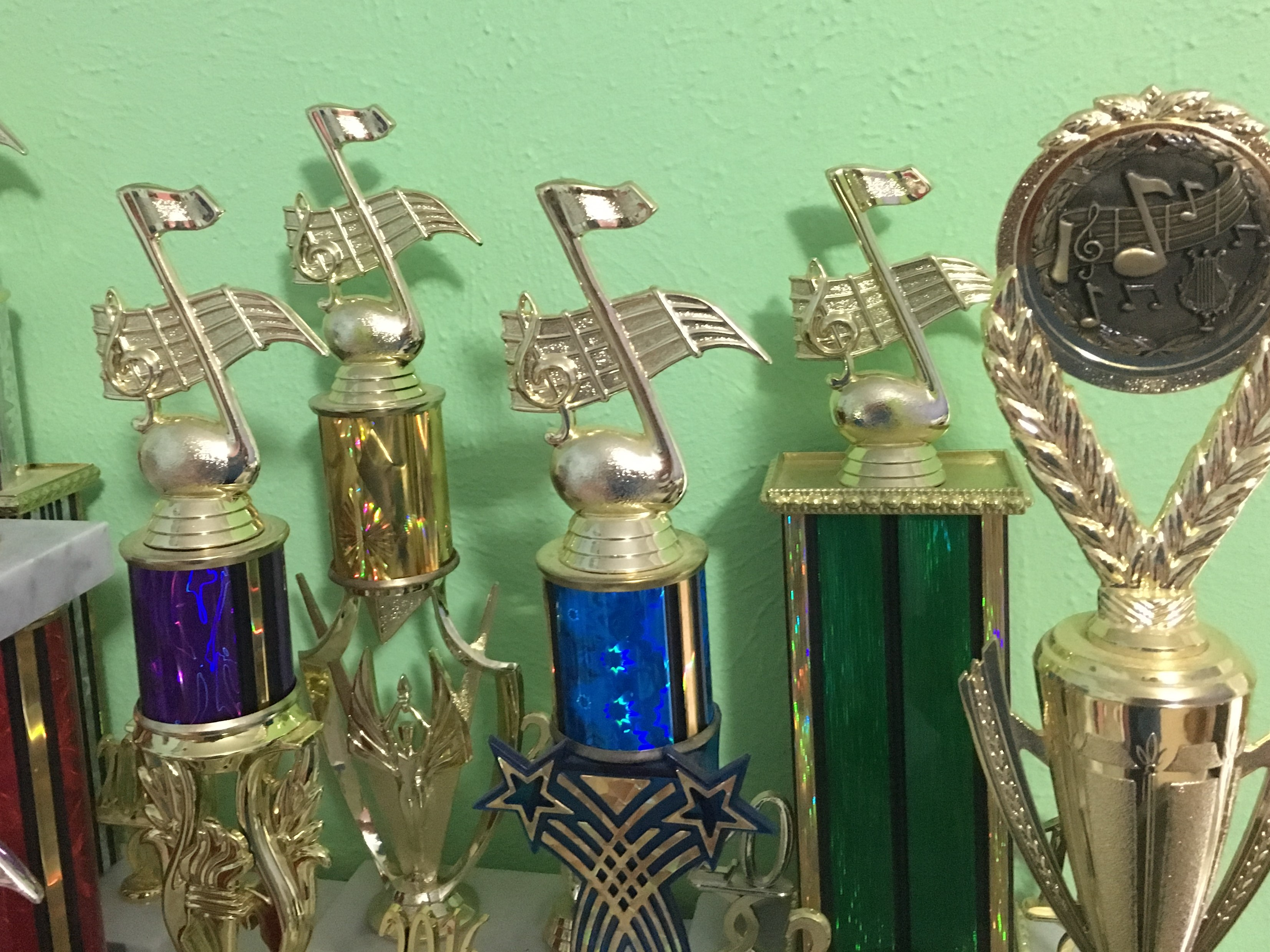 Dallas Piano Lessons Trophies